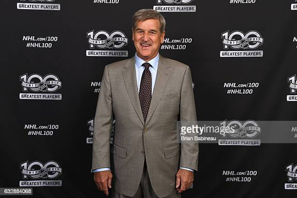 Top 100 player Bobby Orr poses for a portrait at the Microsoft Theater as part of the 2017 NHL AllStar Weekend on January 27 2017 in Los Angeles...