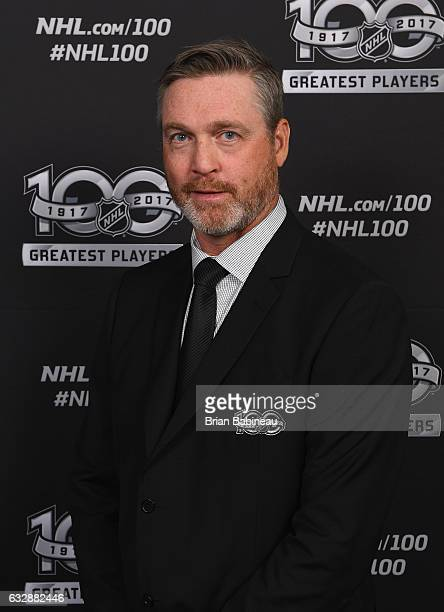 Top 100 player Patrick Roy poses for a portrait at the Microsoft Theater as part of the 2017 NHL AllStar Weekend on January 27 2017 in Los Angeles...