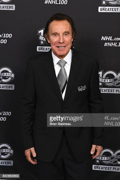 Top 100 player Tony Esposito poses for a portrait at the Microsoft Theater as part of the 2017 NHL AllStar Weekend on January 27 2017 in Los Angeles...