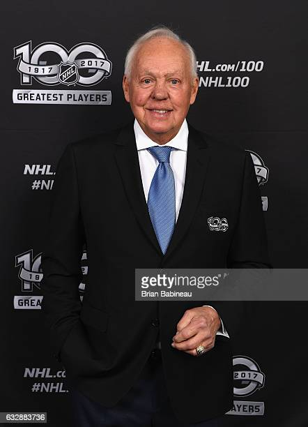 Top 100 player Yvan Cournoyer poses for a portrait at the Microsoft Theater as part of the 2017 NHL AllStar Weekend on January 27 2017 in Los Angeles...