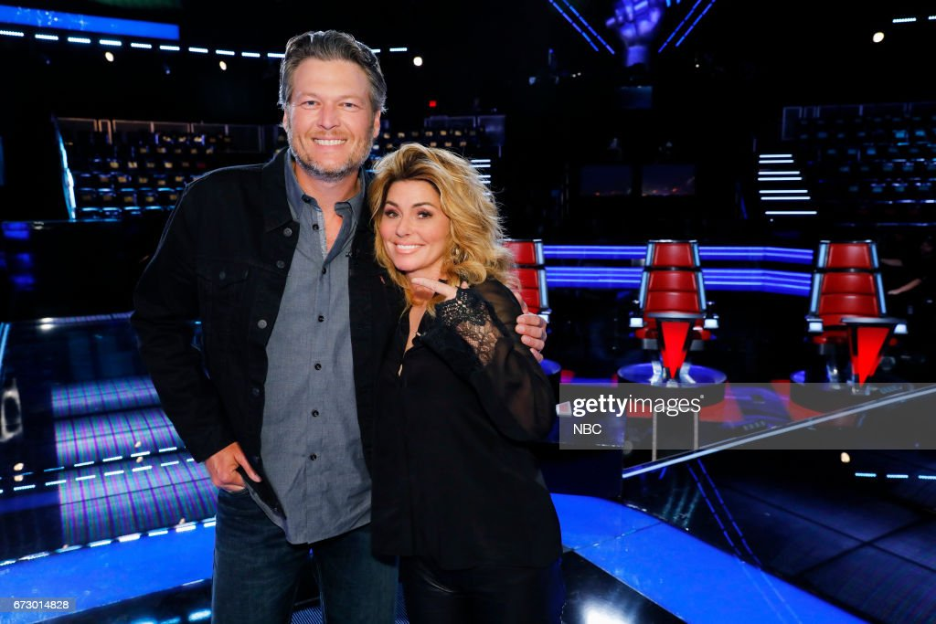 THE VOICE -- 'Top 12 Reality' -- Pictured: (l-r) Blake Shelton, Shania Twain --