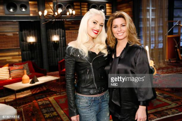 THE VOICE 'Top 12 Reality' Pictured Gwen Stefani Shania Twain