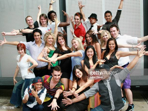 Top 20 contestants pose for the cameras during a press conference for Network Ten's 'So You Think You Can Dance' in the Carriageworks on February 12...