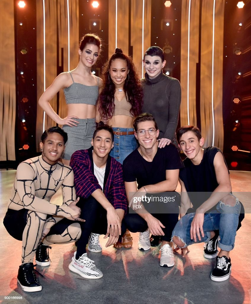 Top 7 contestants (Top Row L-R) Taylor Sieve, Koine Iwasaki and Kaylee Millis and (Bottom Row L-R) Mark Villaver, Lex Ishimoto, Kiki Nyemchek and Logan Hernandez on SO YOU THINK YOU CAN DANCE airing Monday, August 28 (8:00-10:00 PM ET live/PT tape-delayed) on FOX.