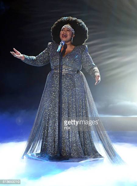 Top 8 contestant La'Porsha Renae performs onstage at FOX's American Idol Season 15 on March 3, 2016 in Hollywood, California.