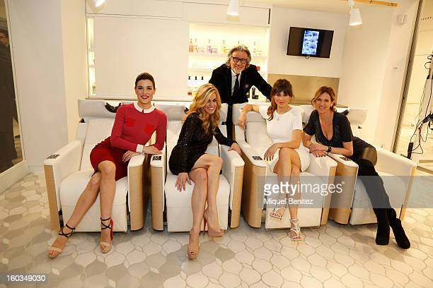Top Alberto Cerdan Raquel Sanchez Silva Alexandra Jimenez Blanca Suarez and Alejandra Prat attend the 'Blanca Suarez is Patroness' of the New L'Oreal...