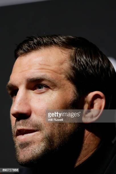 Top American contender and former UFC middleweight champion Luke Rockhold speaks at a press conference before a UFC 221 workout session on December...