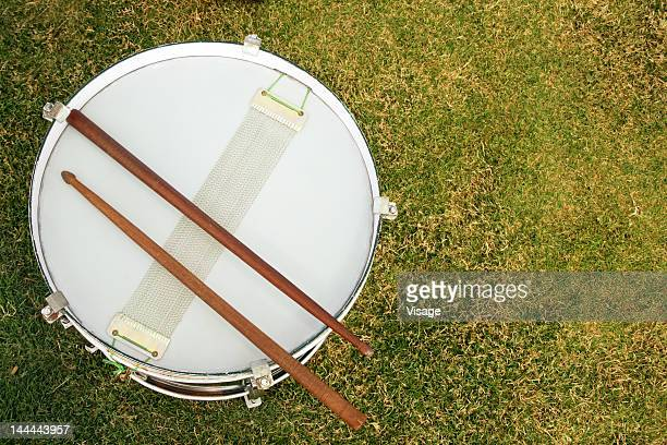 Top angle view of a drum
