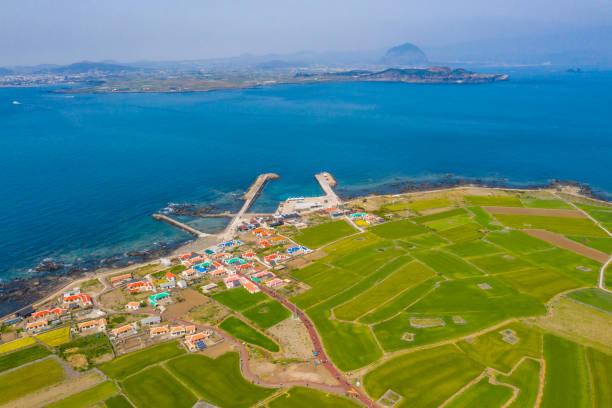 Top Angle View of Gapa Island, Jeju Island, South Korea