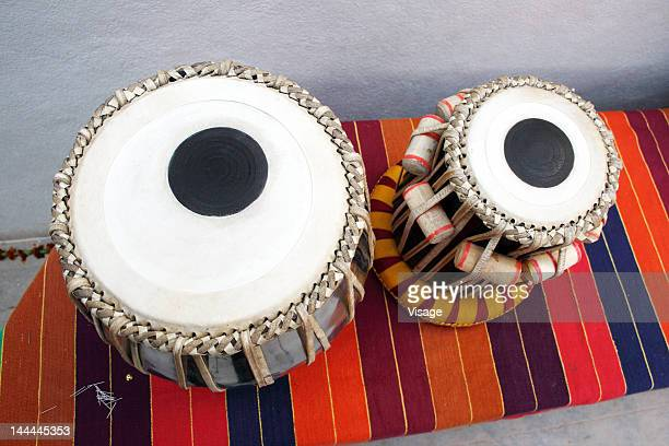 Top angle view of Tabla