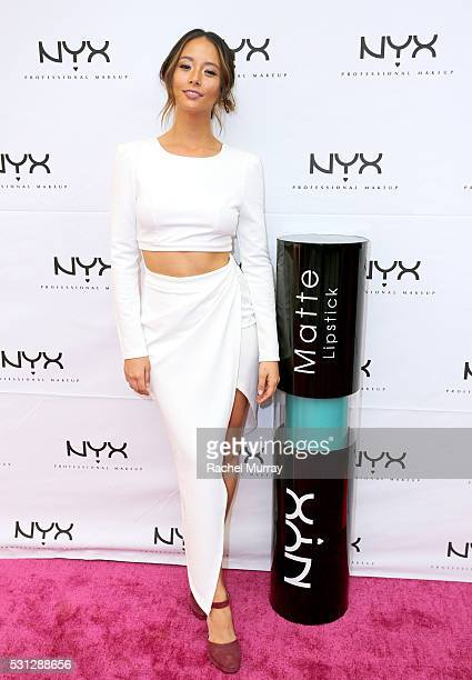 Top Beauty Influencer Aja Dang @ajadang attends the NYX Professional makeup store grand opening ribbon cutting celebration at Fashion Square Center...