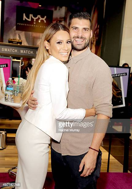 Top beauty influencers Desimakeup and her husband Steven Perkins during her meet and greet at the grand opening celebration of the NYX Cosmetics...