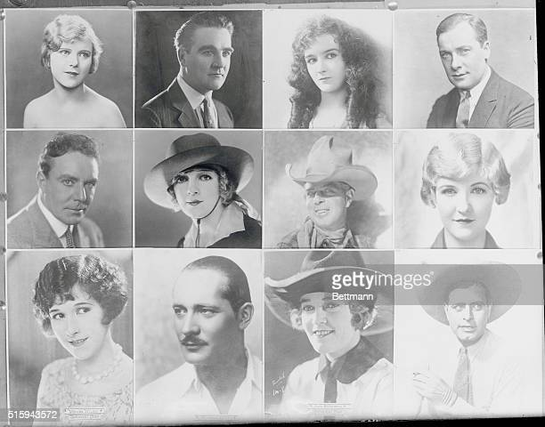 Top Blanche Sweet William Desmond Mary Philbin Pat O'Malley House Peters Hoot Gibson Laura La Plante Wanda Wiley Norman Kerry Josie Sedgwick and Jack...