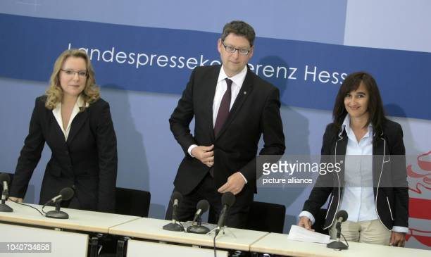 Top candidate and chairman of the SPD in Hesse, Thorsten Schaefer-Guembel, Claudia Kemfert of the German Institute for Economic Research and Italian...