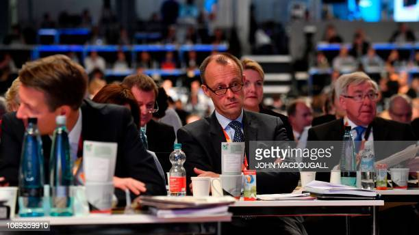 Top candidate for the CDU party's leadership and former CDU parliamentary group leader Friedrich Merz attends a party congress of Germany's...