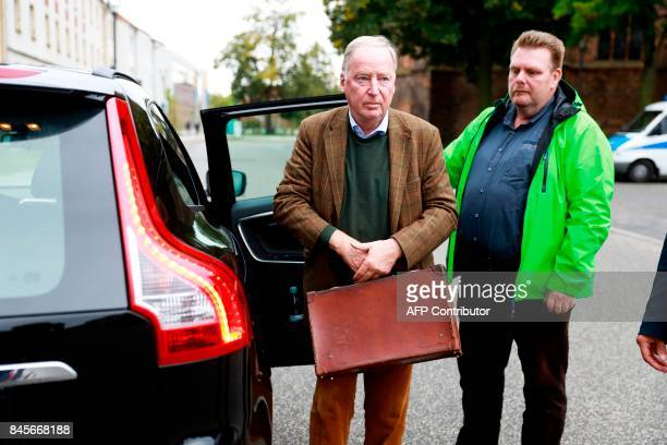 Top candidate of Germany's antiIslam antiimmigration AfD party for upcoming general elections Alexander Gauland arrives at an election campaign event...