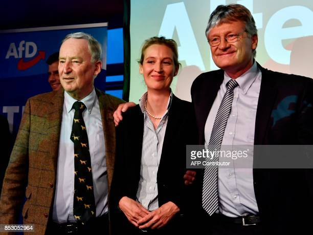 Top candidate of the Alternative for Germany Alexander Gauland Top candidate of the Alternative for Germany Alice Weidel and Member of the leadership...