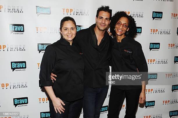 "Top Chef All-Stars Press Kick-off Event"" -- Pictured: Antonia Lofaso, Angelo Sosa, Carla Hall at the GE Monogram Design Center, New York, NY, on..."