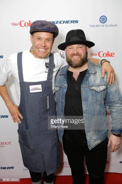 Top Chef Brian Malarkey and recording artist Ryan Innes attend ChefDance on January 22, 2018 in Park City, Utah.