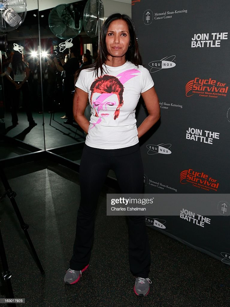 Top Chef host Padma Lakshmi attends the 2013 Cycle For Survival Benefit at Equinox Rock Center on March 3, 2013 in New York City.