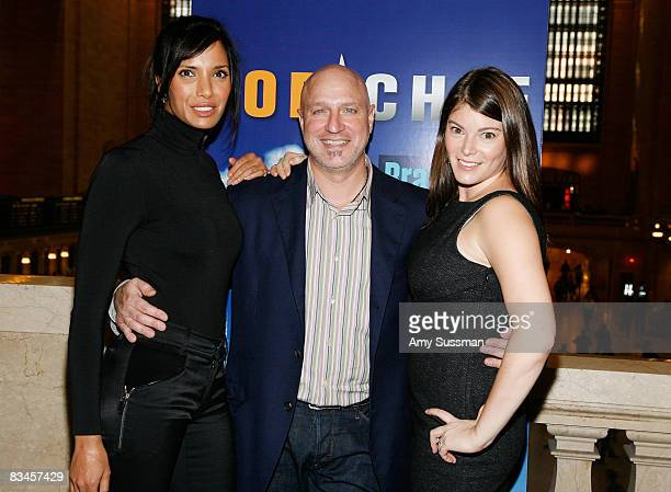 """Top Chef"""" host Padma Lakshmi, head judge Tom Colicchio and judge Gail Simmons attends Bravo's """"Top Chef"""" event """"Taste of the Five Boroughs"""" at..."""