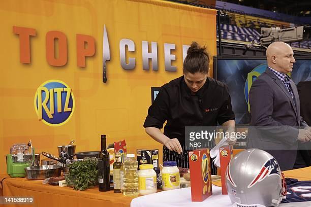 Top Chef -- Pictured: Antonia Lofaso, Tom Colicchio, -- Photo by: Ben Cohen/NBC/NBCU Photo Bank