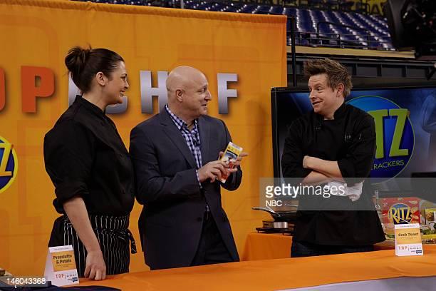 Top Chef -- Pictured: Antonia Lofaso, Tom Colicchio, Richard Blais