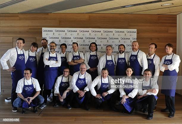 Top chefs Austrian Heinz Reitbauer German Wissler US Daniel Humm Italian Massimo Bottura Chilean Rodolfo Guzman UK Ashley PalmerWatts Peruvian Gaston...