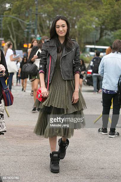 Top Chinese model Shu Pei Qin attends the Marc by Marc Jacobs show wearing Marc Jacobs and Marc by Marc Jacobs on Day 6 of New York Fashion Week...