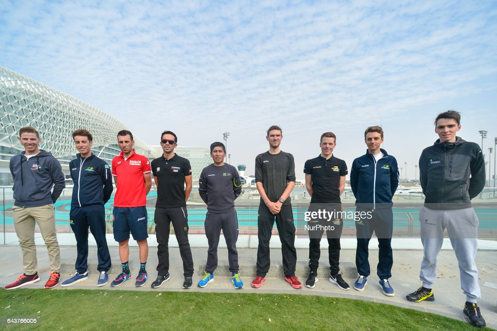 Cycling Tour of Abu Dhabi 2017 - Top Riders Photocall