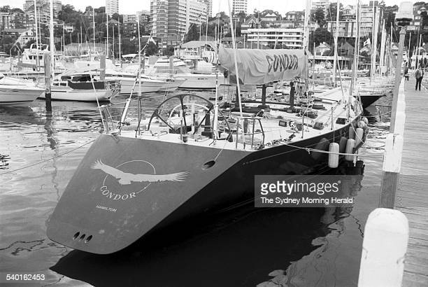 Top contender for line honours 'Condor' at the CYC in Rushcutters Bay on the morning before the start of the Sydney to Hobart Yacht Race 26 December...