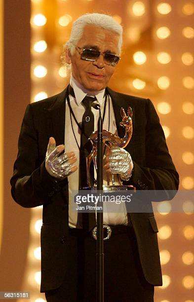 Top Designer Karl Lagerfeld received the Bambi Award in category creativity at the 57th annual Bambi Awards at the International Congress Center on...
