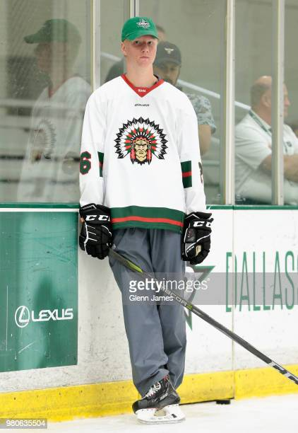 Top draft prospect Rasmus Dahlin participates in the Top Prospects Youth Hockey Clinic at the Dr Pepper StarCenter as part of the 2018 NHL Entry...