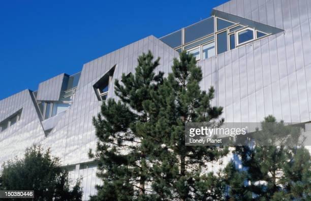 top facade of jewish museum, kreuzberg. - jewish museum stock pictures, royalty-free photos & images