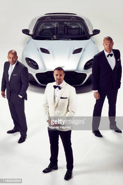 Top Gear presenters Chris Harris, Paddy McGuinness and Andrew Flintoff are photographed for the Daily Mail on May 20, 2019 in London, England.