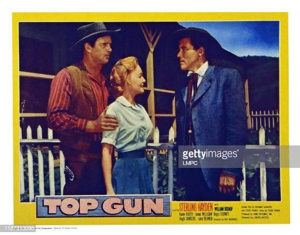 Top Gun, US lobbycard, from left: Sterling Hayden, Karin Booth, William Bishop, 1955.