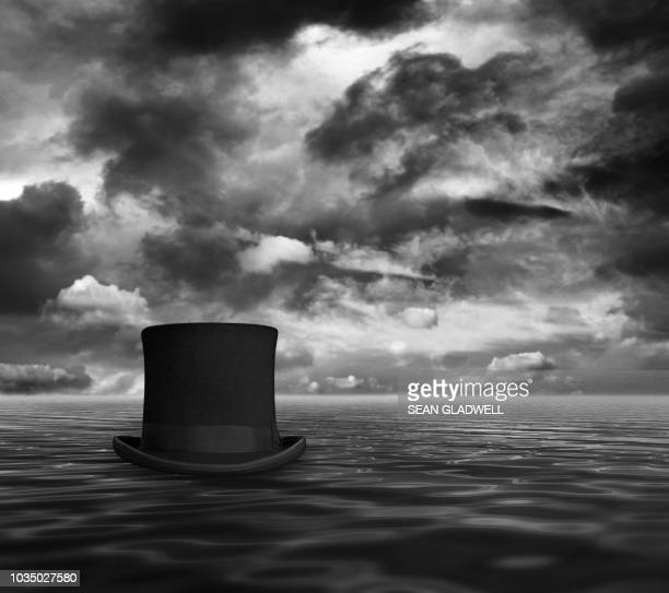 top hat at sea - top hat stock pictures, royalty-free photos & images