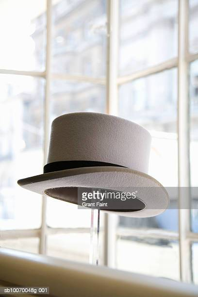Top hat in shop window display