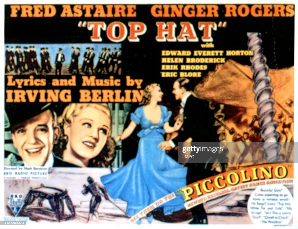 Top Hat, lobbycard, Fred Astaire, Ginger Rogers, 1935  News