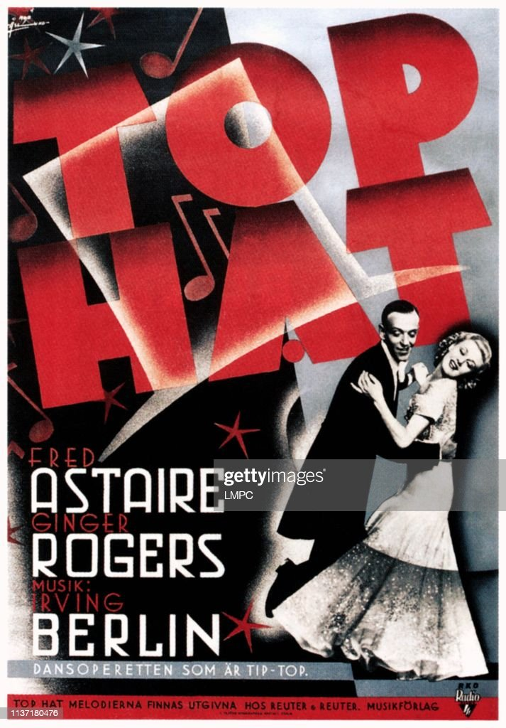 Top Hat, poster, Fred Astaire, Ginger Rogers, 1935  News