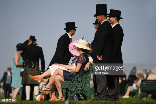 Top hats are the order of the day in the Royal Enclosure on the opening day of Royal Ascot at Ascot Racecourse on June 20 2017 in Ascot England