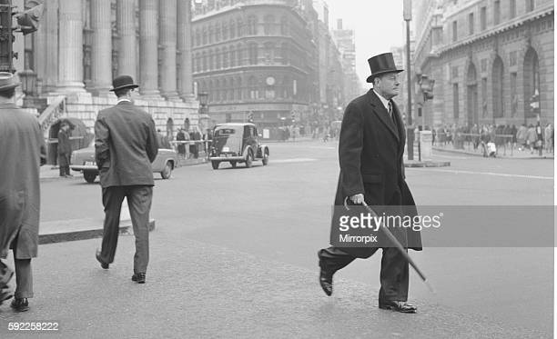 Top hats bowler hats and furled umbrellas abound in this fascinating image of the preBig Bang world of the stockbroker and the stockjobber Circa 1963
