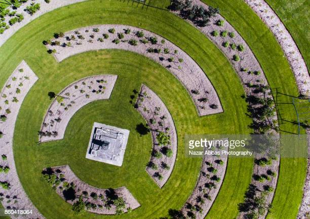 Top looking down at Garden structure in Ashburton, South Island, New Zealand.