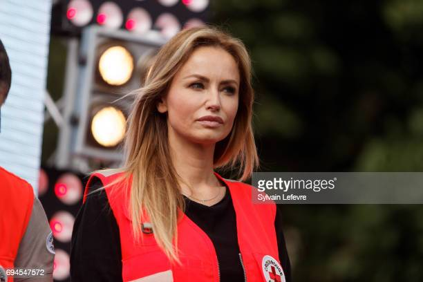 Top model Adriana Karembeu attends Red Cross campaign launching on June 10 2017 in Lille France