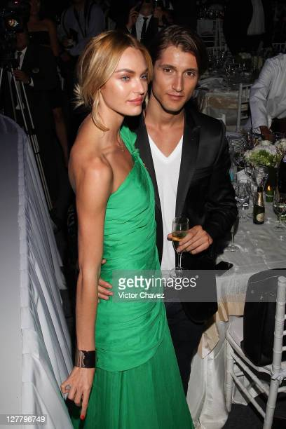 Top Model Candice Swanepoel and her boyfriend Hermann Nicoli attend the Gala Moda Nextel Mexico City 2011 party at the Plaza de Toros on June 4, 2011...
