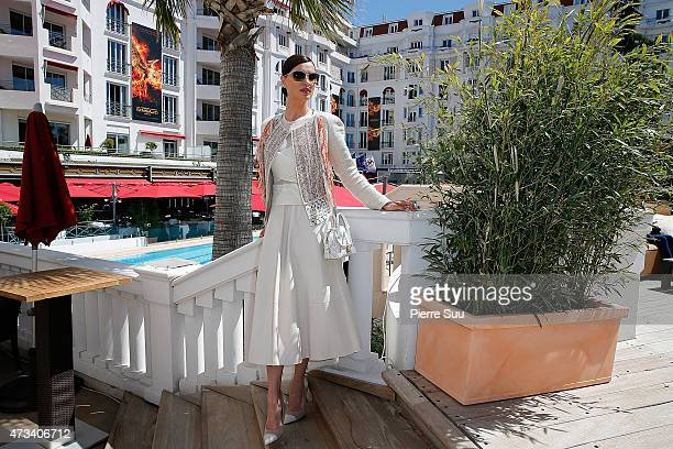 Top Model Catrinel Marlon at the Majestic Hotel during the 68th annual Cannes Film Festival on May 15 2015 in Cannes France