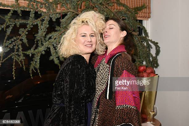 Top Model Christine Bergstrom and Opera star dancer Marie Agnes Gillot Maraine dÕ ICCARRE attend Liza Liwan Exhibition Cocktail at Liza Restaurant on...