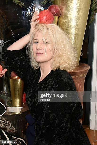 Top model Christine Bergstrom companion of Doctor Jacques Leibowitch from ICCARRE attends Liza Liwan Exhibition Cocktail at Liza Restaurant on...