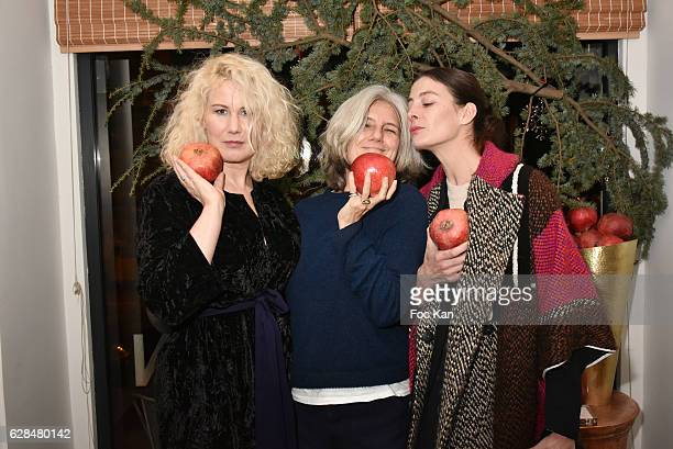 Top model Christine Bergstrom Writer/journalist Sophie Fontanel from L'Obs and opera star dancer Marie Agnes Gillot Marraine of ICCARRE