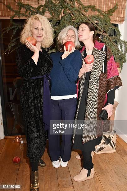 Top Model Christine Bergstrom Writer/journalist Sophie Fontanel Opera star dancer Marie Agnes Gillot Maraine dÕ ICCARRE attend Liza Liwan Exhibition...
